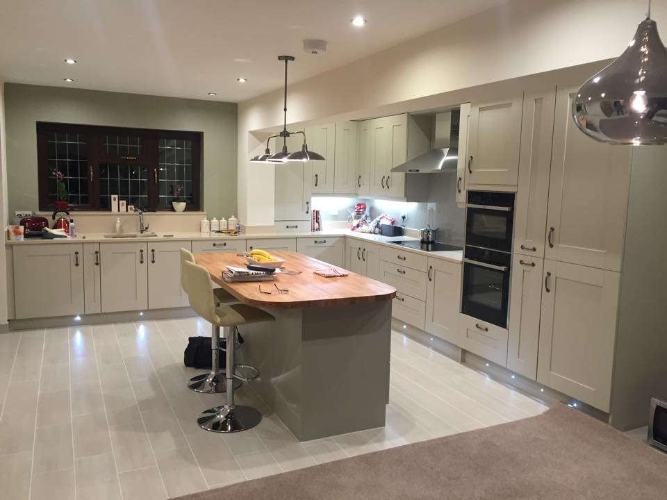 Sage stone shaker kitchen the gallery kingswinford for Kitchen and company