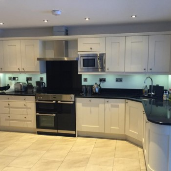 Fitted kitchen in Clent - Painted ivory oak Shaker