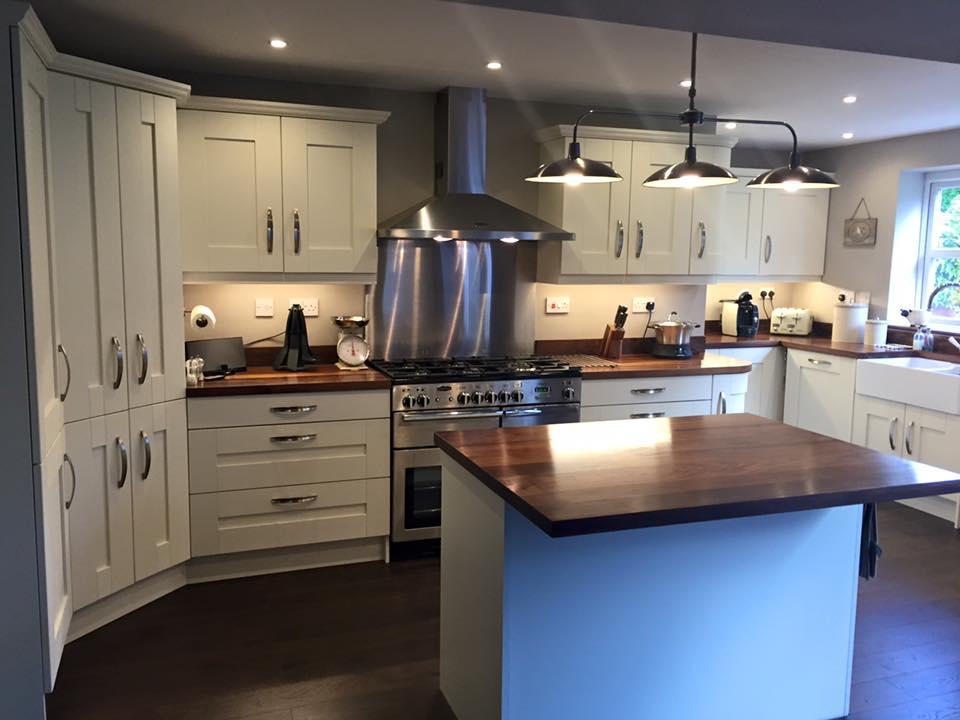 Fitted kitchen in Halesowen - Painted ivory oak Shaker