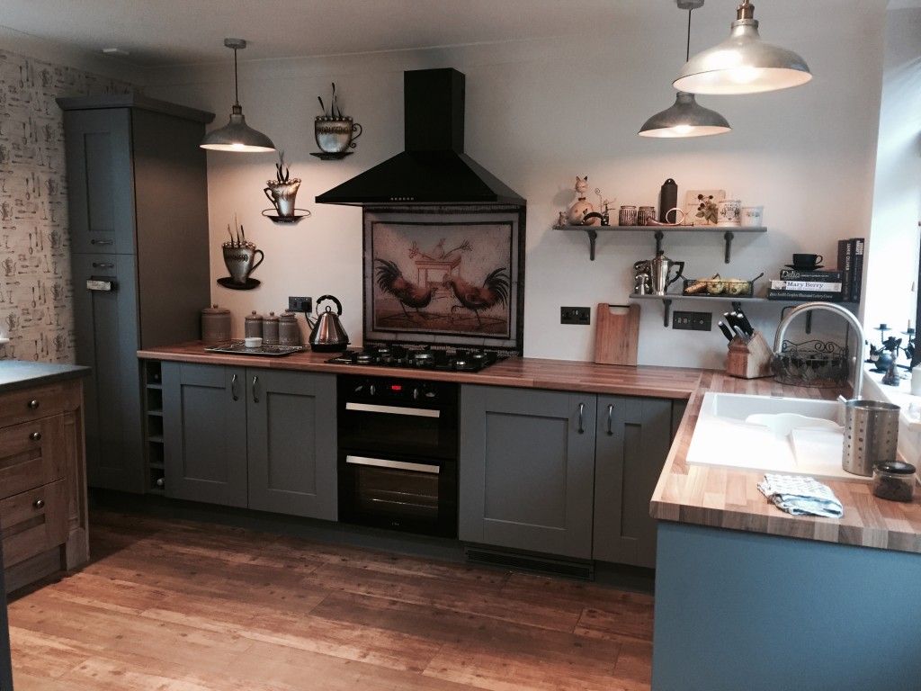 Dust grey shaker fitted kitchen in quarry bank west for Fitted kitchen cabinets