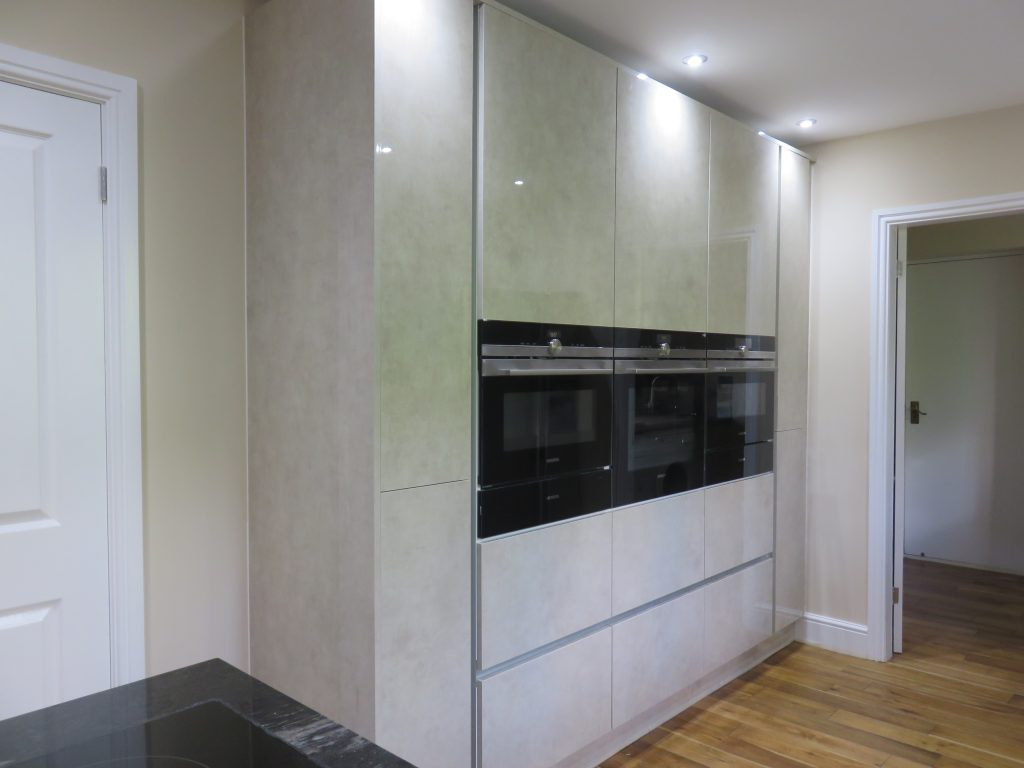 Limestone ultra gloss acrylic kitchen the gallery fitted for Fitted kitchens uk