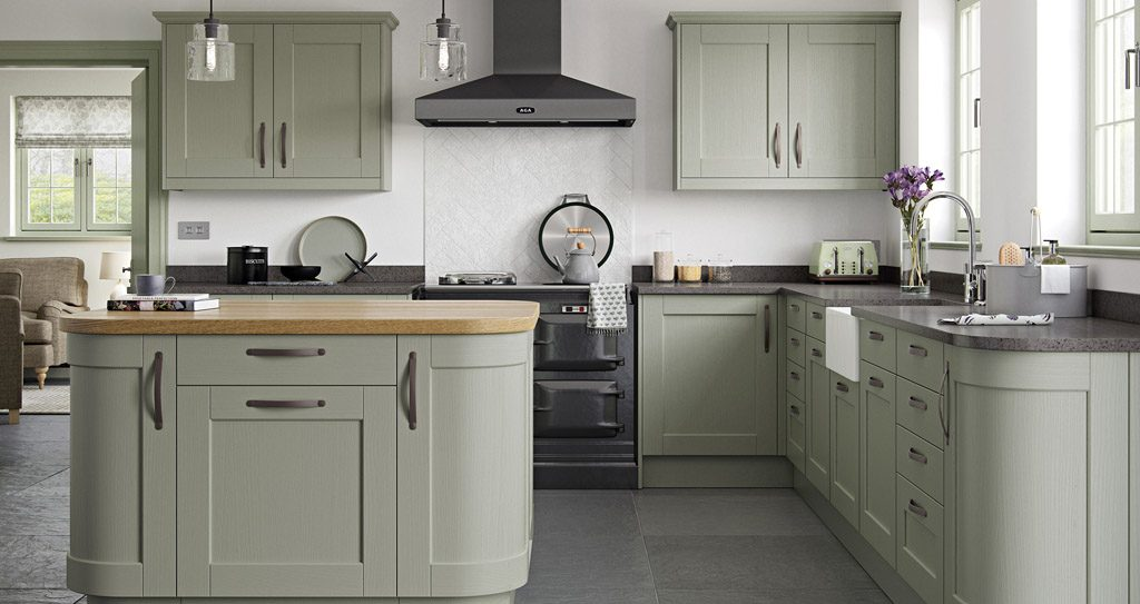 Sage Green And Grey Kitchen Lighting