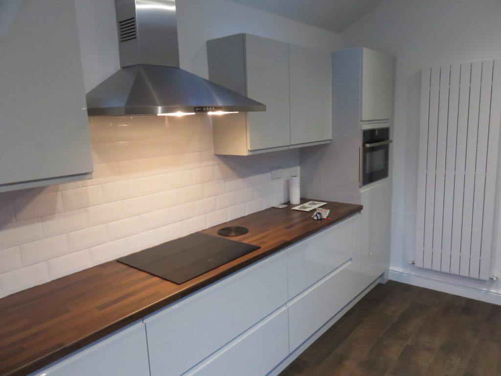 Light Grey Gloss Strada Kitchen The Gallery Fitted Kitchens