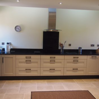 beautiful fitted kitchen - Shaker kitchen doors in gun-metal grey and light grey