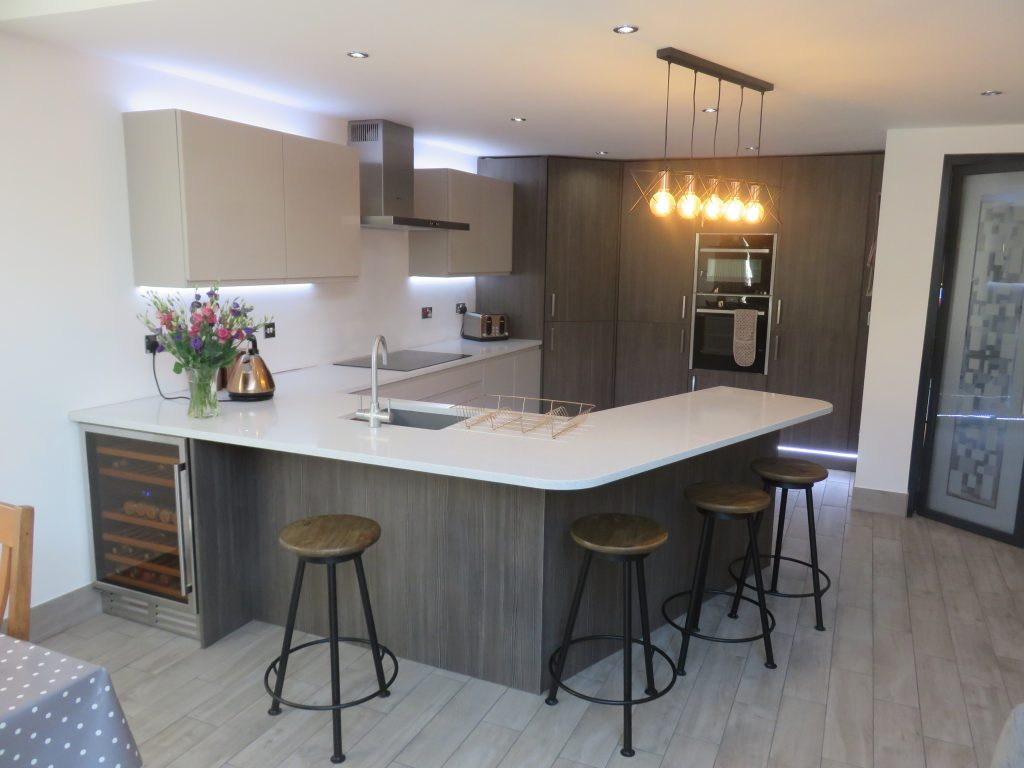 Stylish modern kitchen fitted in Stourbridge by The Gallery fitted kitchens