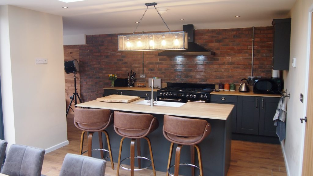 Dekton worktops in a graphite Shaker kitchen | The Gallery fitted kitchens