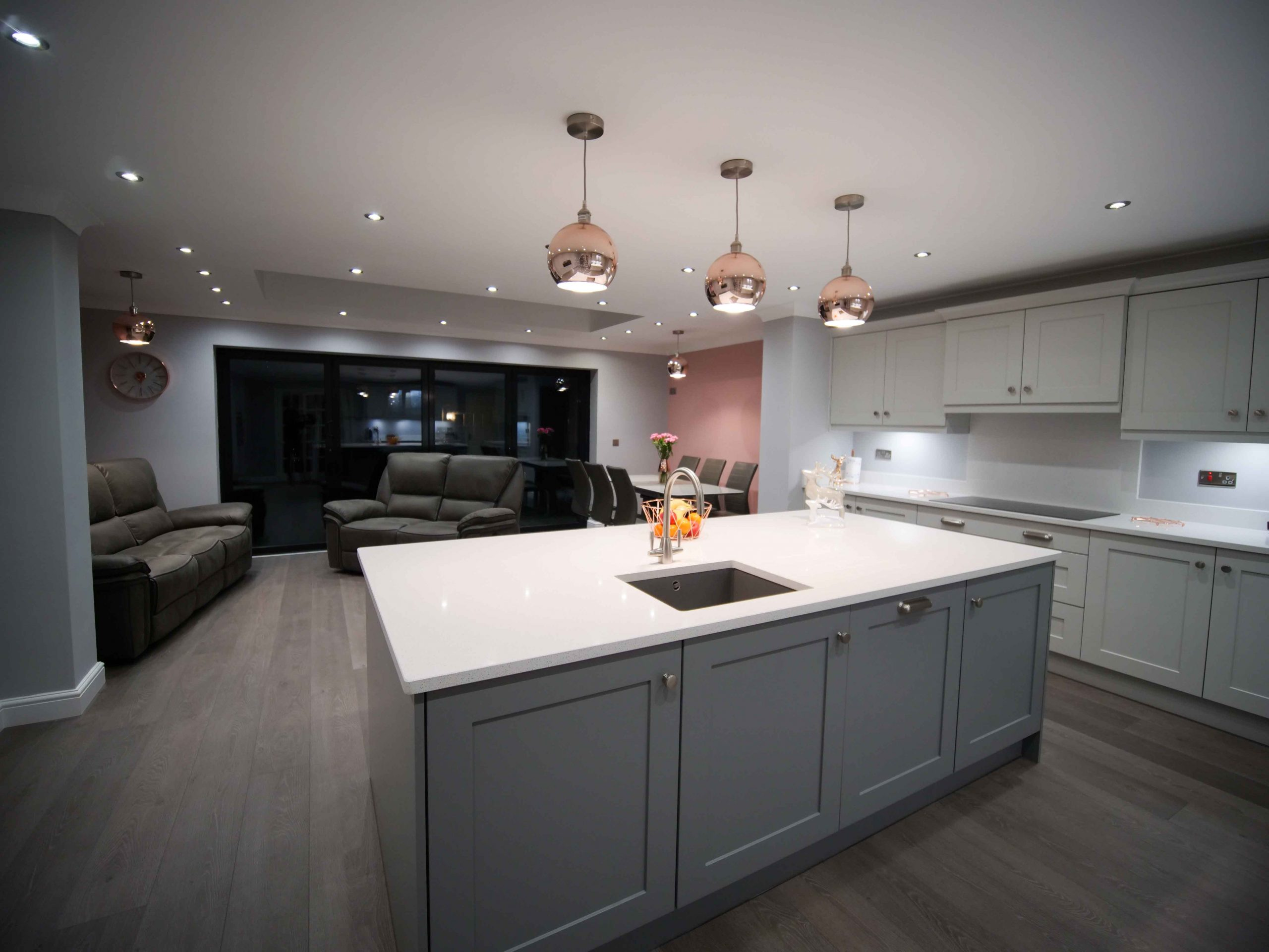 Kitchen Diner In An Open Plan Living Space The Gallery Fitted Kitchens